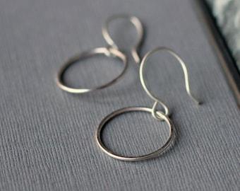 Circle Earrings - Sterling Silver | simple silver earrings | petite earrings | minimal jewellery | mother's day