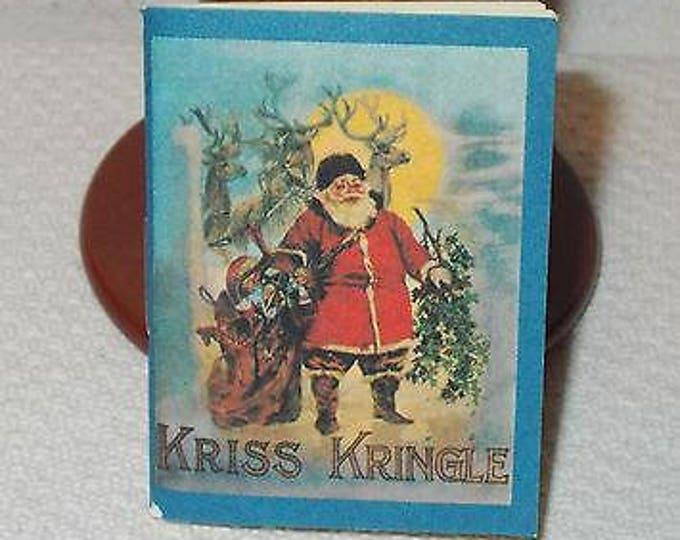 Vintage Dollhouse Miniature Kriss Kringle B. Shackman Reproduction Mini Book
