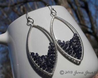 JUMA Jewelry - ACID RAIN Earrings - Iolite