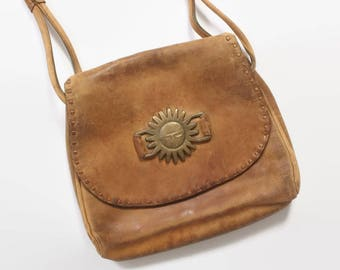 Vintage 50s LLOYD KIVA Purse / 1950s Rare Charles Loloma Native American Leather Shoulder Bag