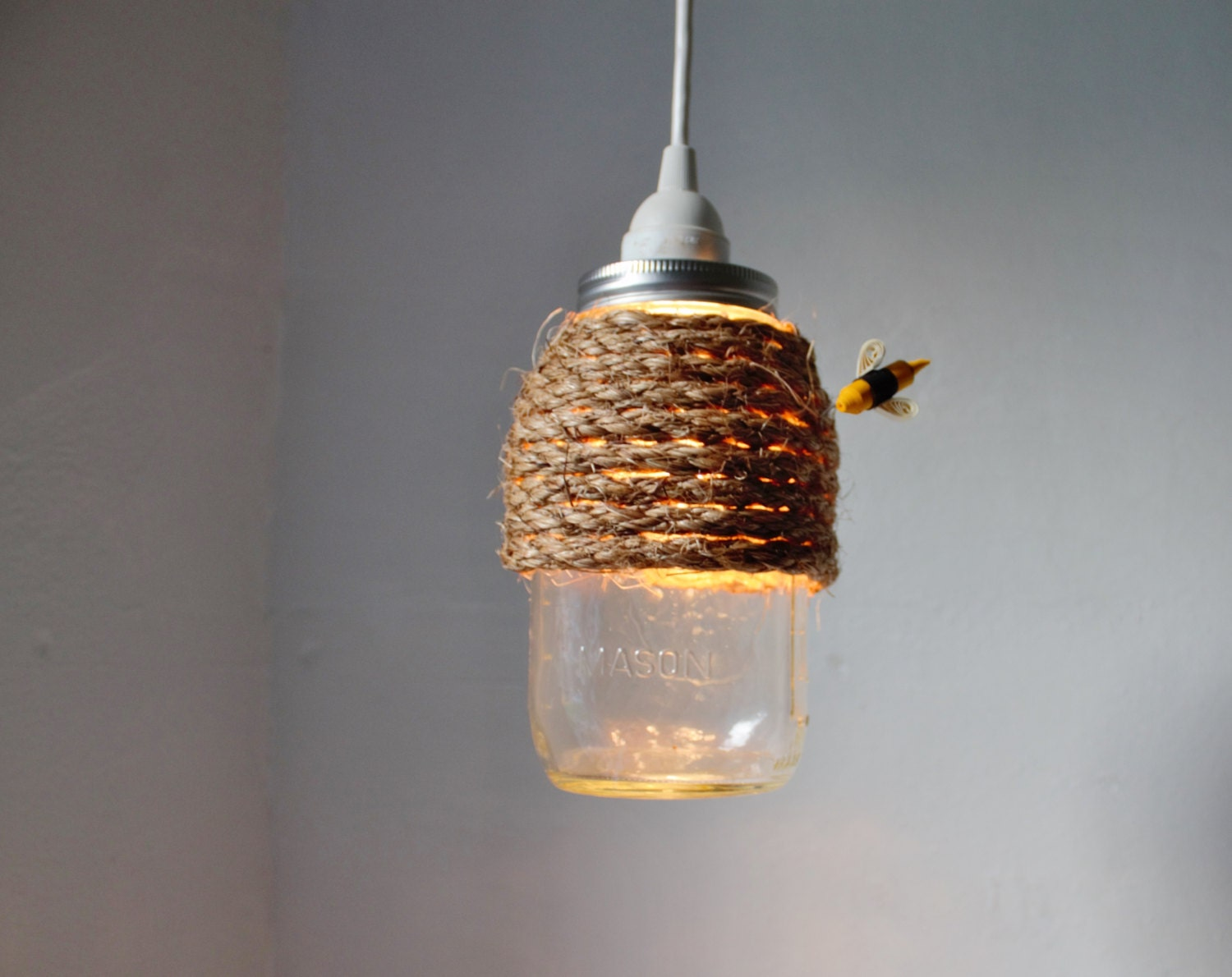 The hive mason jar pendant lamp hanging lighting fixture with zoom arubaitofo Gallery