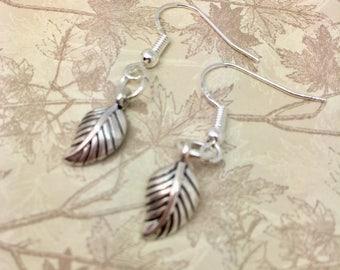 Leaf earrings, Fall earrings, Autumn earrings, earrings, quirky earrings, dangling earring,