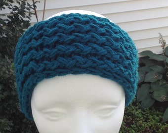 Women's Teen Knitted Winter Headband Earwarmer With A Knitted Bow
