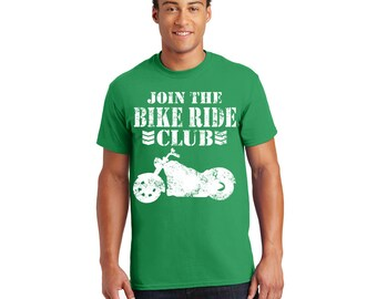 Join the Bike Ride Club Tshirt, Tee, Shirt, Gift for Her, Gift for Him