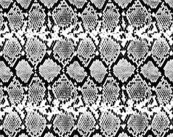 Black Snake Skin - Ceramic Decals- Enamel Decal - Fusible Decal - Glass Fusing Decal ~ Waterslide Decal - 15798