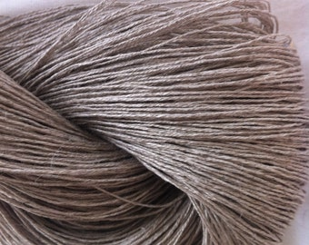 LACE Linen Lace Undyed Yarn, Natural Gray Gossamer Linen Yarn,  Dye Your Own Natural Grey Linen Yarn