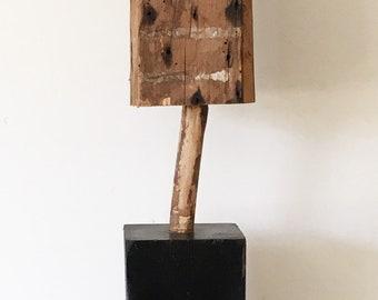SURRENDER: found object assemblage, sculpture, folk art, outsider art