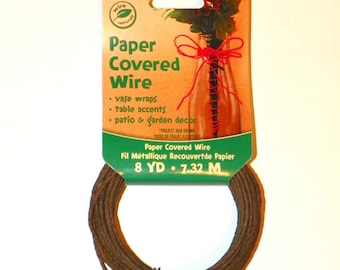 Brown Paper Covered Wire, 24 Feet, One Package of Wire, Great for Wedding Crowns and Head Pieces