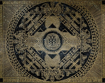 Kemetic Pantheon, Original Painting Art Print