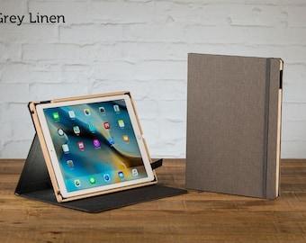 SECONDS - Contega Linen for iPad Pro 12.9 Case - Grey Linen