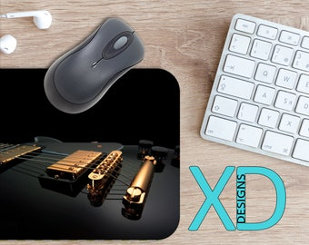 Music Mouse Pad, Music Mousepad, Guitar Rectangle Mouse Pad, Black, Guitar Circle Mouse Pad, Music Mat, Computer, Instrument, Song, Rock
