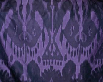 Last Chance Sale Purple fabric Tribal fabric Jacquard Fabric Ikat style exotic fabric apparel width fabric compound Ikat tribal UNIQUE