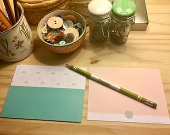 Simple Sun & Plant Notecards - Blue/Green