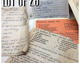 Vintage Recipe Cards 1920's-1960's