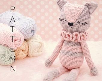 Amigurumi Cat Doll : Amigurumi crochet doll pattern flo the flamingo pattern only