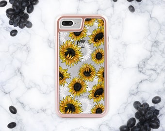 Sunflowers iPhone 6s iPhone 8 Hard Case iPhone X iPhone 7 Plus Case Gift iPhone 8 Plus Case Yellow Phone Case iPhone 6 Case iPhone 6S cn3216