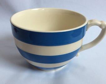 Cornishware Mug from T.G. Green. Blue and Cream Cornishware Cup. Shabby Chic