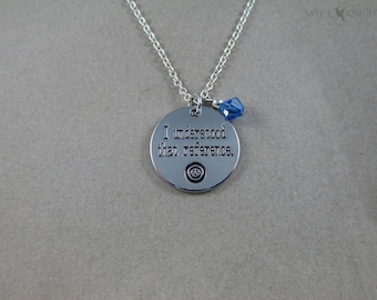 Captain America Charm Necklace - I understood that reference - Silver Charm