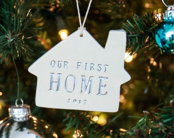 First Home Christmas Ornament - Our First Home 2017 - Gift Boxed and Ready to Give