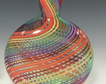 Rainbow Vertigo Glass Vase 1