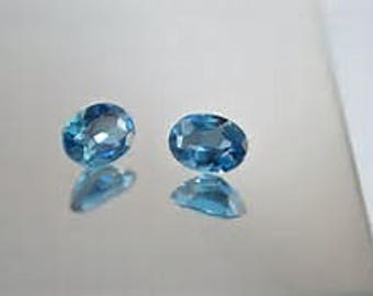 5 Pieces  Sky Blue Topaz  faceted oval Shape Faceted Cut Loose Gemstone