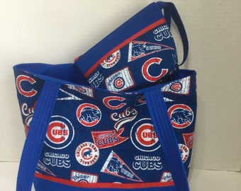 Chicago Cubs Quilted Purse - Quilted Tote - Market Bag -Shopping Bag -Shoulder  Bag - NHL Tote - MLB Tote - Cubs Tote - Cubs Wallet