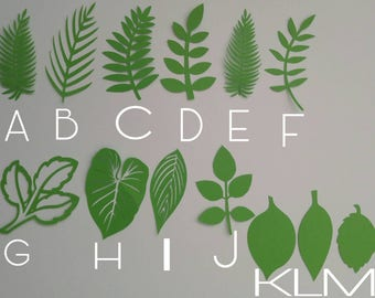 Wild, jungle leaves,safari,table decorations,background prop,baby shower, birthday,party decoration,leaf cutouts,die cuts
