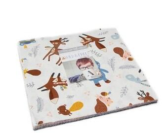 20 % off thru 5/31 WILD & FREE-Layer Cake- Moda fabric 42 10 inch squaress 35310LC Abi Hall Baby bear, fox, teepee