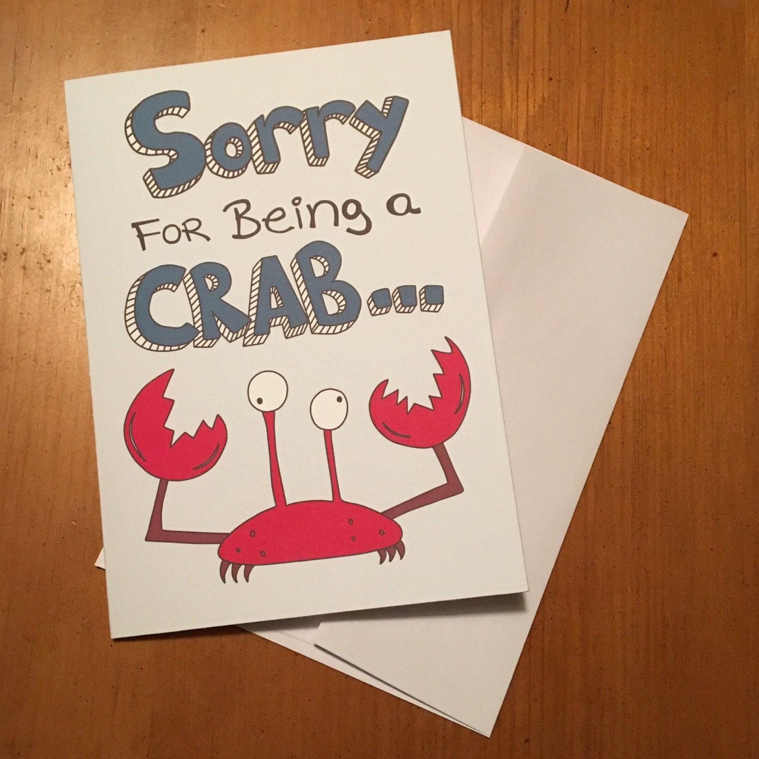 Funny crab blank greeting card sorry for being a zoom kristyandbryce Gallery