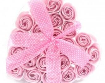 Heart of 24 Soap Flowers