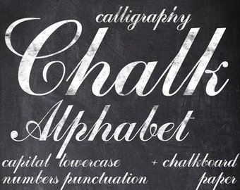 Digital Chalkboards Alphabet for scrapbooking, chalk clipart, Papercrafts, Wedding Decor, Instant Download, printable lettering (1)