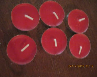 Set of 6 Tealights Cinnamon Recycled/Reuse/Go Green...