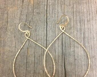 Gold Infinity Hoops
