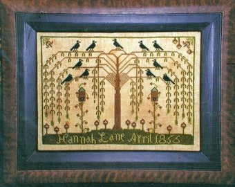 The Willow Tree Sampler by Carriage House Samplings Counted Cross Stitch Pattern/Chart