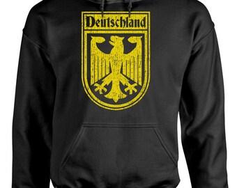 GERMANY GERMAN SOCCER flag crest Hoodie hooded sweatshirt sweat shirt