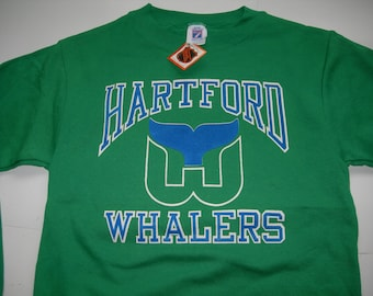 1986-87 Hartford Whalers - NHL/WHA Pro Ice Hockey - Adams Division Champions - 50/50 unisex t-shirt - men's S / 36