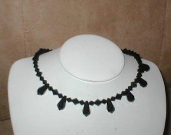 Swarovski Black Crystal Necklace choker