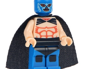 Lucha Libre Mexican Wrestler Fighter Huracan Ramirez Custom Printed Minifigure Compatible with LEGO