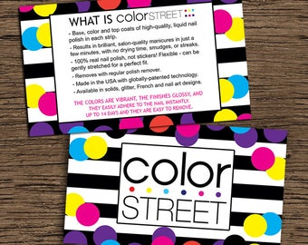 Color Street Double Sided Card, Digital-Printable-Instant Download Business Card/What Is Color Street Double Sided Business Card