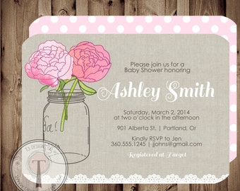 Burlap and Lace birthday invitation, country birthday invitation, rustic, girls birthday, 30th birthday, 40th, 21st, party invitation