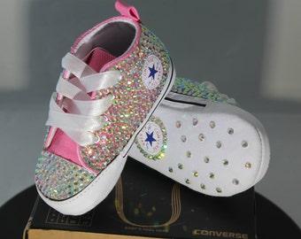 Custom Converse- Baptism- Christening- Baby Bling Converse- Bling Sneakers- Baby Converse- Kids Converse- Birthday Converse- Bling Sneakers