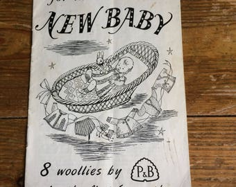 8 knitting patterns for the new baby - rare
