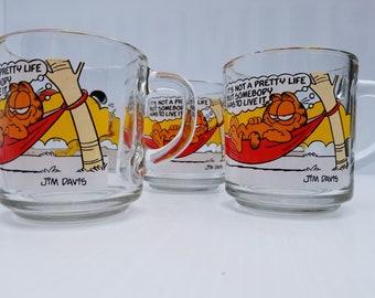 MCDONALDS MUGS - Garfield and Odie - Set of 3