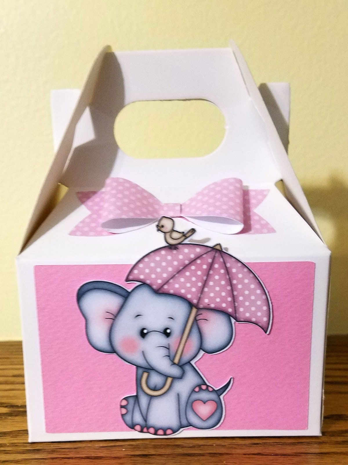 Small Baby Shower Treat Box Baby Shower Favor Boxes Elephant