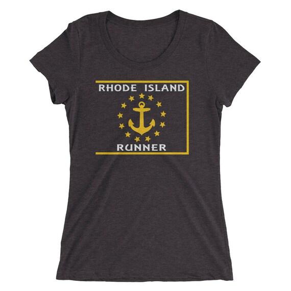 Women's Rhode Island Runner Triblend T-Shirt - Run Rhode Island - Women's Short Sleeve Running Shirt