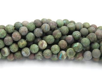 Matte Dragon Blood Jasper 4mm, 6mm, 8mm, 10mm, 12mm  -15.5 inch strand