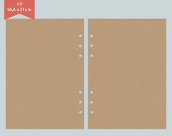 Notepaper Filofax - kraft paper - brown - 25 Sheets - A5