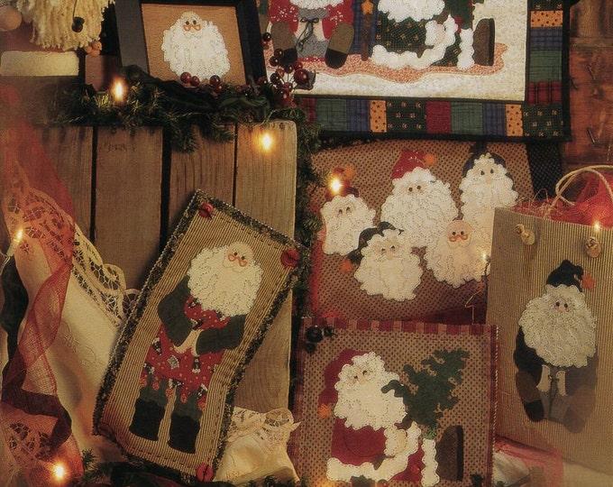 FREE US SHIP Fiber Mosaics Craft Sewing Pattern Free Us Ship Christmas Quilt 88801 Old Fellows Reunion Santa Claus Uncut 1995