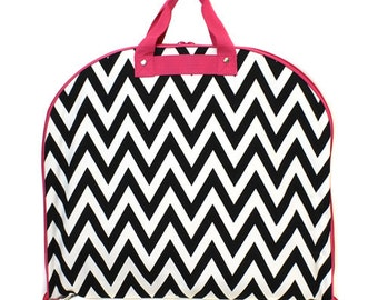 Personalized Garment Bag, Monogrammed Garment Bag, Hanging Bag, Clothes Hanging Bag, Carry-All Hanging Bag,Luggage,chevron Hanging Bag, Suit