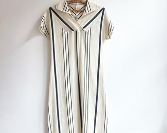 Vintage cotton hippie bohemian summer sun beach dress tunic S